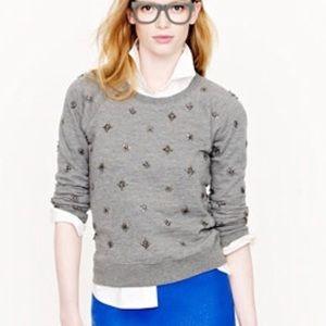 🧡 5/$25 J. Crew Jeweled Sweatshirt